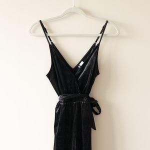 Pants - Black velvet jumpsuit